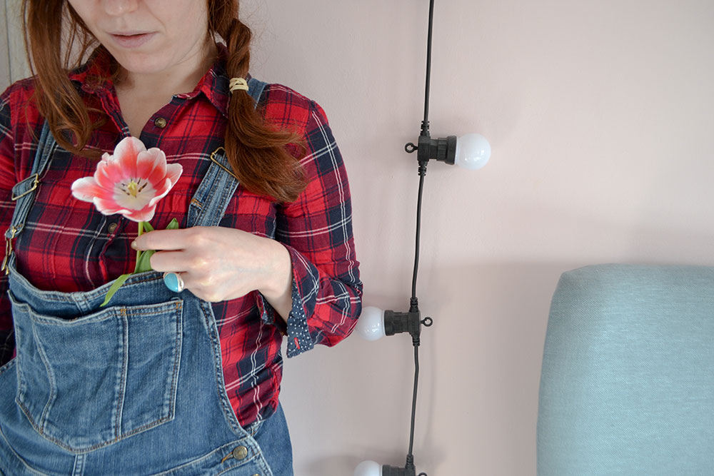 Tulip and dungarees